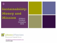 View Webinar: Non-Profit Sustainability