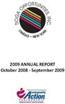 Tioga Opportunities, Inc. Annual Report - 2008-2009