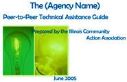 Peer-to-Peer Assessment Process - Illinois Association of Community Action Agencies
