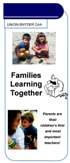Families Learning Together Brochure