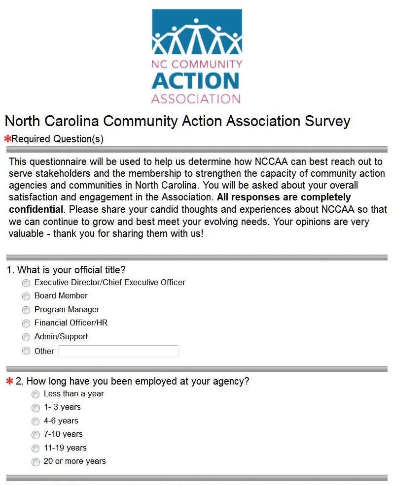 NCCAA-Survey